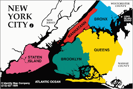 Google Map Of New York by The Five Boroughs Of New York City East Coast And City