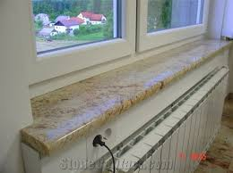 Wooden Interior Window Sill Ivory Brown Granite Interior And Exterior Window Sills From