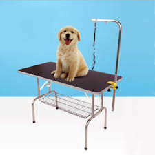 large dog grooming table paw essentials stl901 black durable heavy duty dog pet grooming