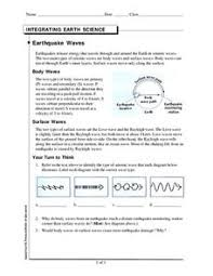 seismic waves worksheet free worksheets library download and