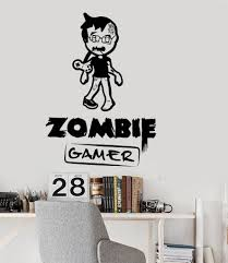 vinyl wall decal zombie gamer video games play room boy teen vinyl wall decal zombie gamer video games play room boy teen stickers ig3051