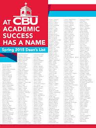 spring 2015 dean u0027s list