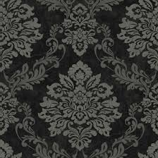 damask pattern wallpapers in traditional and modern styles