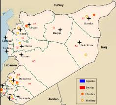 Damascus Syria Map Daily Syrian Conflict Map Middle East