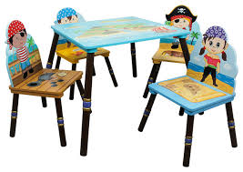 pirate island kids wooden table set 4 chairs contemporary