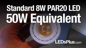 Par20 Led Light Bulbs by Standard 8w Par20 Led Light Bulb 50 Watt Replacement Youtube