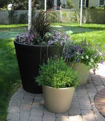 tall outdoor planters ceramic with tall black round outdoor