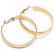 gold hoop earrings femme