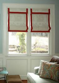 Flat Roman Shades - red roman shades scalisi architects
