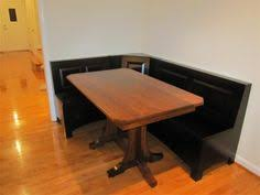 puerto rico 3 corner bench nook pine table and bench set 436