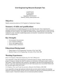 Construction Cv Template Construction Engineer Sample Resume Security Officer Cover Letter