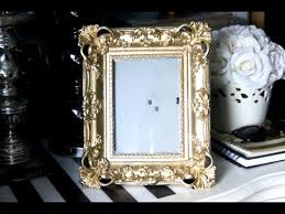 diy gold shabby chic frame makeover youtube