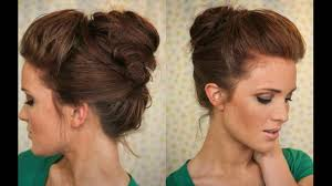 bouffant bun is best party hair style youtube