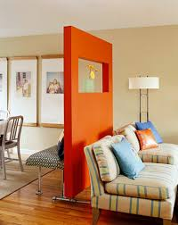 Rolling Room Divider How To Build A Freestanding Divider Wall Divider Bold Colors