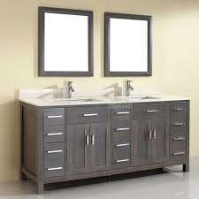 French Bathroom Cabinet by Double Sink Bathroom Vanity Kalize 75 French Gray Finish