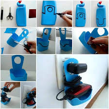 diy phone charger diy plastic bottle cell phone charger holder