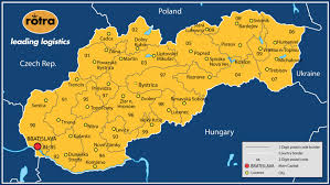 Slovakia Map Cargo Slovakia Being Shipped By Our Experts Rotra
