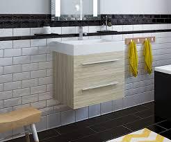 Oak Vanity Light Nash Light Oak 580 Wall Hung Vanity Unit With Sink Bathrooms Com
