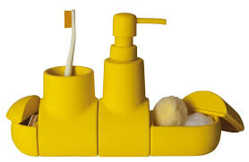 bathroom awesome yellow ceramic bathroom soap dispenser and