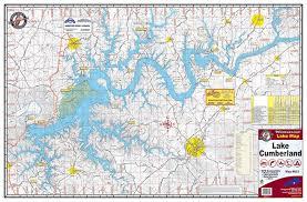 cumberland lake map lake cumberland 803 kingfisher maps inc