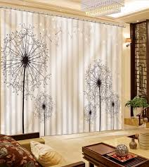 Curtains For Dressing Room Blackout Curtain Dandelion Curtains For Lliving Room Bedroom