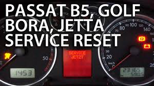 how to reset service reminder vw passat b5 golf bora jetta mk4