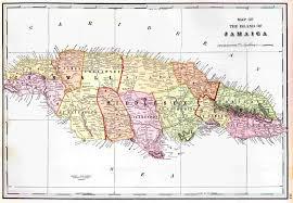 Map Jamaica Parishes Of Jamaica