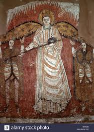 a fine early coptic wall mural depicting an angel which came from a fine early coptic wall mural depicting an angel which came from the ancient christian