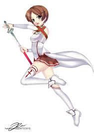 asuna cosplay featuring hikari yagami by werewolfconfess on