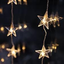 indoor christmas window lights 40 warm white led star curtain light lights4fun co uk