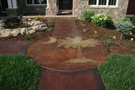 Backyard Concrete Patio Designs Poured Concrete Patio Designs