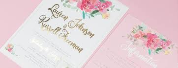 Foil Wedding Invitations New Blossom Watercolour Foil Wedding Invitations Eivissa Kind