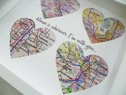 wedding gift map unique wedding gift personalized map heart giftwedwebtalks