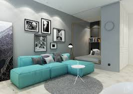 2 minimalist apartment design ideas with beautiful blue accents