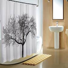 Shower Curtains With Trees Waterproof Bathroom Mould Proof Fabric Weave Curtain Tree Shower