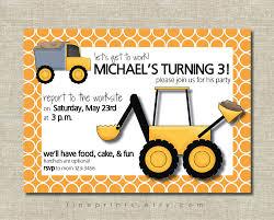 Birthday Cards Invitations Construction Birthday Party Invitations Kawaiitheo Com