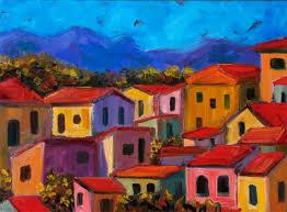 landscape photo colorful