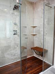 bathroom cozy teak shower mat on lowes tile flooring and glass