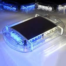 magnetic base strobe light blue white 44 led emergency strobe light magnetic base