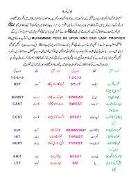 english vocabulary exercises three in urdu