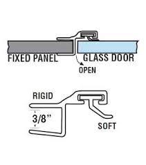 Shower Door Jamb Wgsonline 180 Deg Poly Shower Door Or Strike Jamb Seal For 3 8