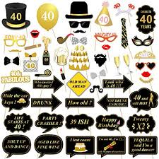 party photo booth 40th birthday party photo booth props 53pcs for