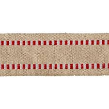 burlap ribbon 1 1 2 wired burlap stripe edge ribbon white