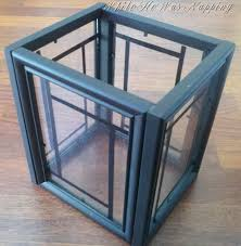 Picture Frame Centerpieces by 4 Dollar Tree Picture Frames Glue U003d Lantern To Fill With