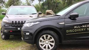 land rover jeep 2014 land rover discovery sport vs jeep cherokee trailhawk youtube