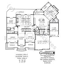 chateau floor plans chateau lafayette country house plan