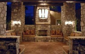 modern outdoor living room with fireplace outdoor fireplace living