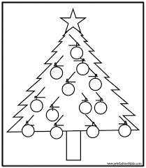 coloring pages simple christmas tree coloring printables