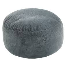 extra large grey faux fur bean bag pod luxury gaming chair fur