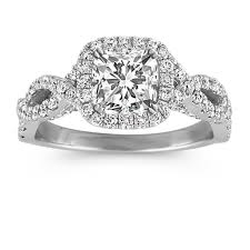 white gold halo engagement rings infinity halo engagement ring in 14k white gold shane co